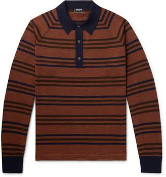 Todd Snyder Striped Merino Wool Polo Shirt