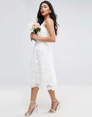 Asos Edition BRIDAL Lace Cami Midi Dress