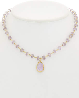 Rachel Reinhardt 14K Over Silver Light Amethyst Necklace