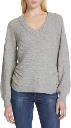 Frame Ruched Wool & Cashmere Sweater