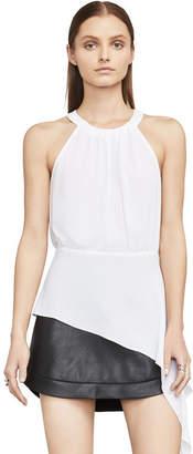 BCBGMAXAZRIA Caryn Asymmetrical Drape Top