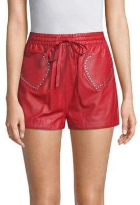 Valentino Studded Heart Shorts