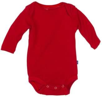Kickee Pants Crimson Long-Sleeve One-Piece