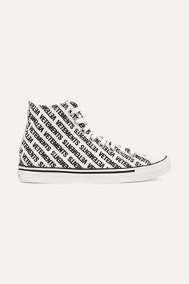 Vetements Logo-print Canvas High-top Sneakers