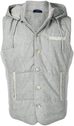 Barba fitted hooded gilet