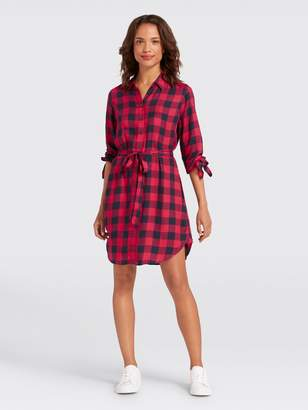 Draper James Buffalo Check Shirtdress
