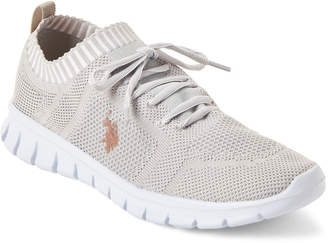U.S. Polo Assn. Light Grey Carola Knit Low-Top Sneakers