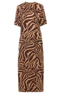 Ganni Silk Stretch Satin Maxi Dress Size: 32