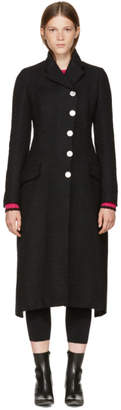 Proenza Schouler Black Asymmetric Back Tie Coat