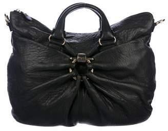 Salvatore Ferragamo Pleated Leather Satchel