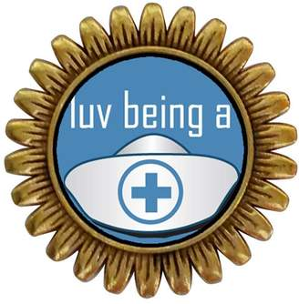 GiftJewelryShop Ancient Style Gold-plated Love Being A Nurse Sunflower Pins Brooch