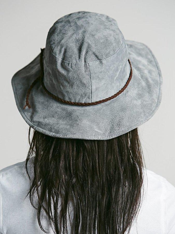 Free People Suede Floppy Hat