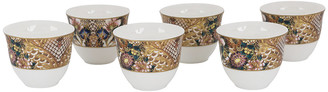 Roberto Cavalli Golden Flowers Arabic Cups - Luxury Box Set of 6