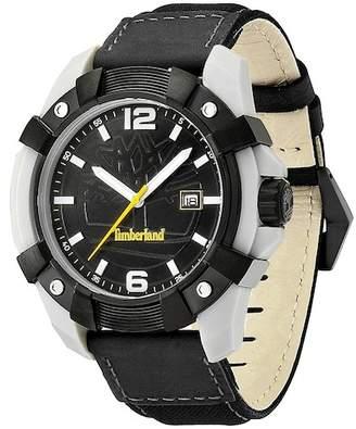Timberland Men's Chocorua Leather Strap Watch, 46mm