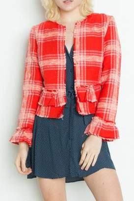Dex Ruffle Tweed Jacket