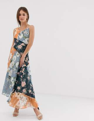 We Are Kindred Janie patched maxi dress
