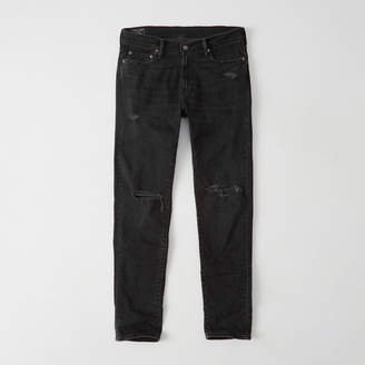 Abercrombie & Fitch A&F Men's Ripped Slim Jeans in Ripped Black - Size 32 X 34