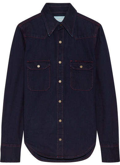 CALVIN KLEIN 205W39NYC - Denim Shirt - Dark denim