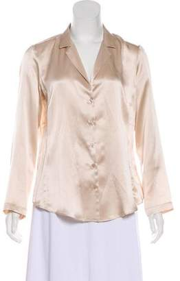 Amanda Uprichard Silk Button-Up Top