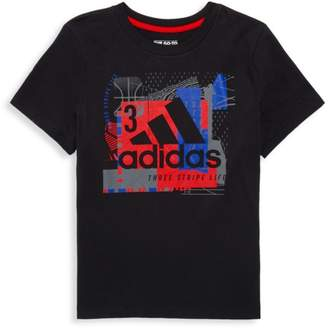 adidas Boy's Collage Mantra Graphic T-Shirt
