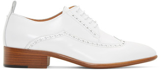 Maison Margiela White Leather Brogues $825 thestylecure.com