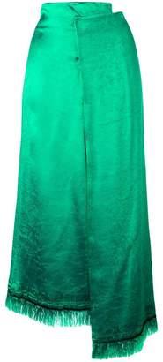 Marni fringed midi skirt