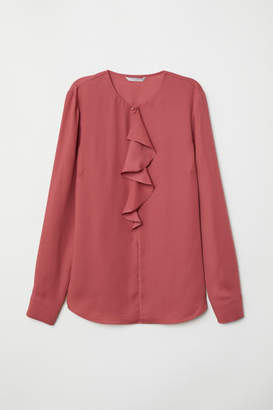 H&M Blouse with Flounce - Red