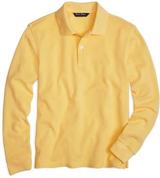 Brooks Brothers Boys Long-Sleeve Pique Polo Shirt