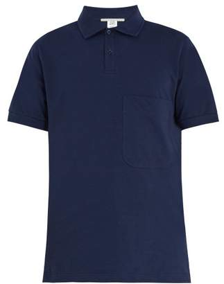 Stella McCartney Short Sleeve Cotton Polo Shirt - Mens - Navy
