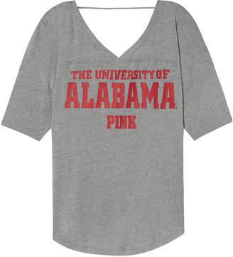 PINK University of Alabama Boyfriend Open Back V-Neck Tee
