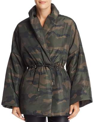 Bloomingdale's Divine Heritage Camo Puffer Coat