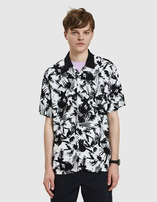 Obey Nate Woven Shirt in White Multi