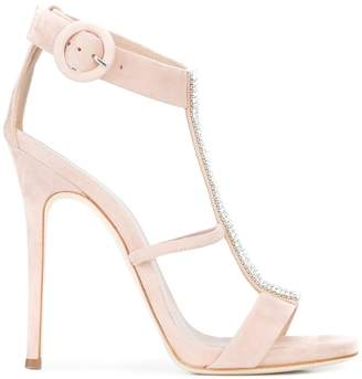Giuseppe Zanotti Design rhinestone embellished T-bar sandals
