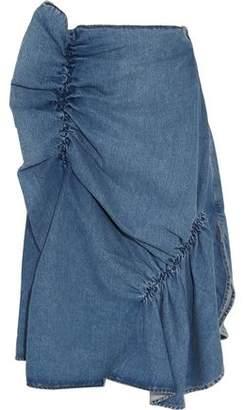 J.W.Anderson Asymmetric Ruffled Denim Midi Skirt