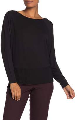 Magaschoni M BY Long Sleeve Boat Neck Ribbed Shirt