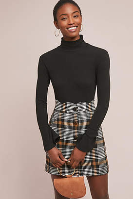 J.o.a. Scalloped Plaid Mini Skirt