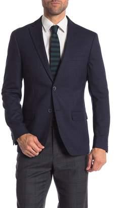 Tommy Hilfiger Navy Weave Two Button Notch Lapel Classic Fit Blazer