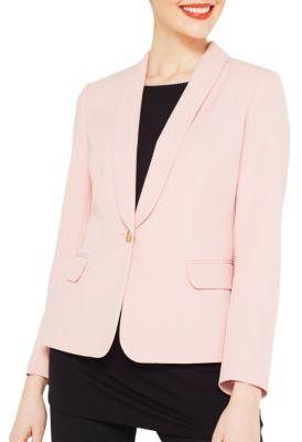 Miss Selfridge Solid Button-Front Blazer $75 thestylecure.com