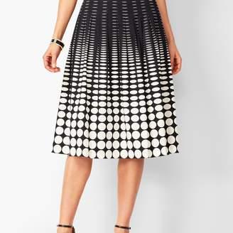 Talbots Geo-Print Pleated Full Skirt