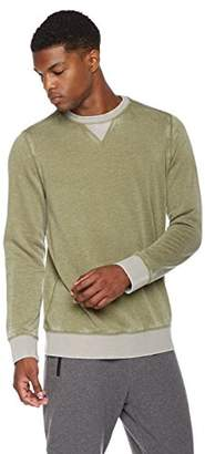 Rebel Canyon Young Men's Super Soft Fleece Color Blocked Pull-Over Crew Neck Sweatshirt
