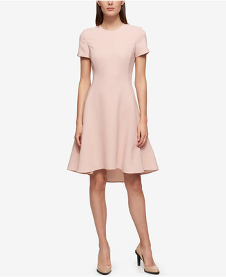 Dkny Short-Sleeve Fit & Flare Dress $159 thestylecure.com