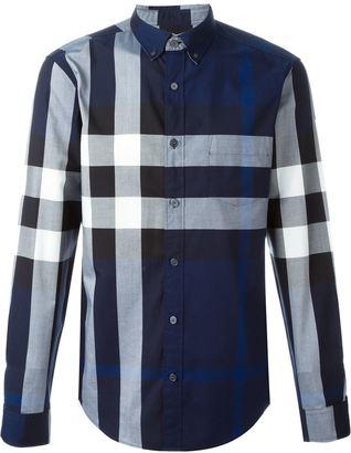 Burberry checked shirt $250.60 thestylecure.com