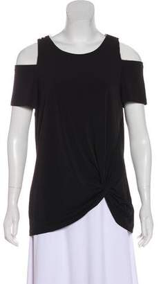 MICHAEL Michael Kors Cold-Shoulder Asymmetrical Top