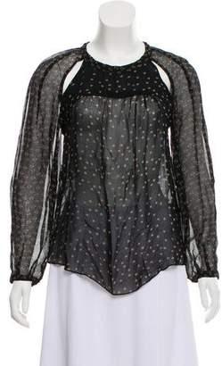 Etoile Isabel Marant Long Sleeve Cut-Out Blouse