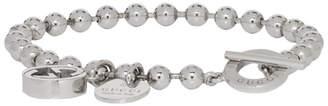 Gucci Silver Charm Ball Chain Bracelet