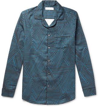 Desmond & Dempsey - Printed Cotton Pyjama Shirt