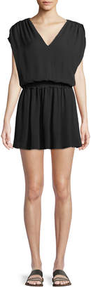 Ramy Brook Perrie V-Neck Silk Mini Dress