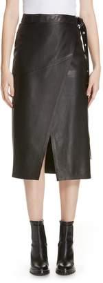 HUGO Lavesi Leather Wrap Skirt