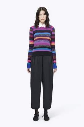 Marc Jacobs Cashmere Grunge Stripe Tie-Neck Sweater
