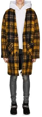Amiri Men's Plaid Mohair-Blend Cardigan Coat